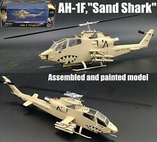 AH-1F Cobra Sand Shark attack helicopter 1/72 diecast aircraft Easy model