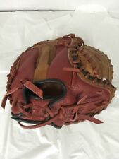 Vtg eagle Baseball Catchers Mitt Glove 10� Individually Handcrafted In Canada Ra