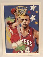 1990 Charles Barkley Hoops basketball card Philadelphia 76ers NBA #374 Team Art