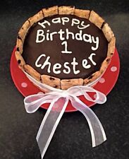 🐶The Cornish Barkery Natural Dog Personalised Celebration Gift Birthday Cake 2""
