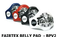 Fairtex Muay Thai Leather Belly Pad BPV2 Light Weight Black White Red Blue