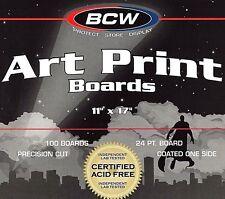 100 New 11 X17 Backing Boards  BCW  ACID FREE  Art Print  Photo