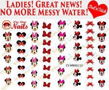 Disney Minnie Mouse Bow Clear Vinyl PEEL and STICK Nail Decals CV-MB002-53