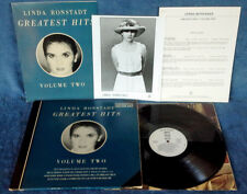 LINDA RONSTADT - GREATEST HITS VOL. 2 - ASYLUM LP - WHITE LBL PROMO + PRESS KIT