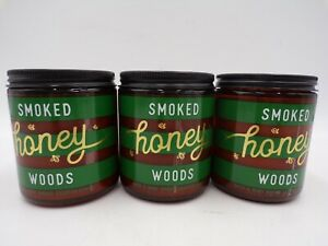 Bath & Body Works Smoked Honey Woods Scented Candle with Beeswax Set of 3 #372