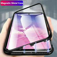 For Samsung Galaxy Note 10 Plus Magnetic Adsorption Metal Glass Slim Case Cover