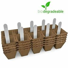 New listing Seed Starter Peat Pots Germination Kits Biodegradable - 50 Cells