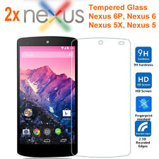 2X Tempered Glass Guard Screen Protectors For LG Google Nexus 5 / 5X / 6 / 6P