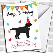 To From Dog Black Labrador Customised Birthday Card