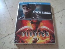 VIN DIESEL 2 Disc Blu-Ray NEW&SEALED SteelBook PITCH BLACK Chronicles Of Riddick