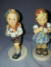 Lot Of 2 Figurines By W. Goebel W. Germany Boy 82 /0 Girl 380 1972