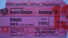 TICKET BL 1977/78 FC Bayern München - Hamburger SV