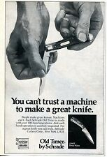 1977 small Print Ad Schrade Old Timer 154OT Pocket Knife can't trust a machine