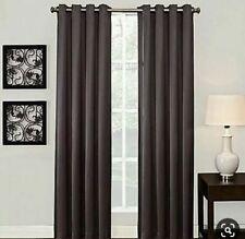 "Ashton 84"" Grommet Top Darkening Curtain Graphite"
