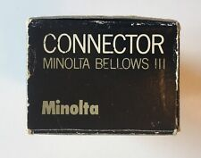 Minolta Bellows III Connector New in Box Vintage Camera Accessory