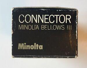 Minolta Bellows III Connector New in Box Vintage Camera Accessory
