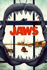 """New Giclée Art Print of the 1975 Movie Poster """"Jaws"""" Steven Spielberg"""