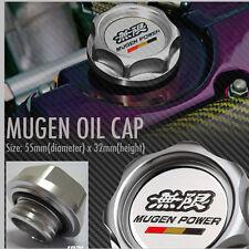 New Silver Mugen Car Engine Oil Fuel Filter Tank Cap Cover Plug Honda Universal
