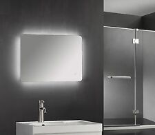 600 x 800mm Backlit LED Illuminated Touch Bathroom Mirror Demister  IP44