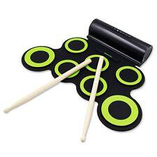 Juego de batería electrónica, kit de batería Midi Dril Practice Pad para batería