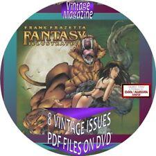 Frank Frazetti Fantasy Illustrated Magazine - 8 Issues - Pdf On Cd