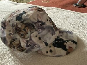 H&M Girls Puppy, Kitten, Rabbit Baseball Cap - Age 6-7-8 Years