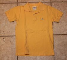 Lacoste Boys Size 10 Yellow Short Sleeve Polo Shirt