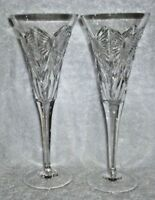 Pair of Waterford Crystal Happiness Fluted Champagne