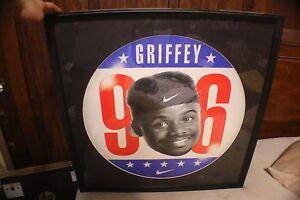 "Ken Griffey Jr Framed And Matted ""96"" Nike Poster"