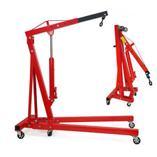 Heavy Duty Folding Engine Crane 1tonne Cranes Hoist Lift Workshop Hydraulic