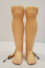 Pair of Grand Size Antique Composition Teenage Doll Lower Legs with Molded Knees