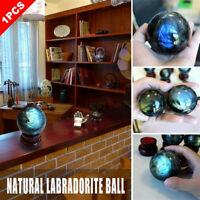 Natural Labradorite Rose Quartz Amethyst Sphere Crystal Ball Healing Citrine