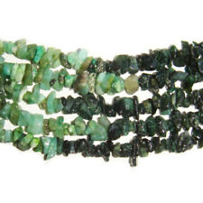 Green Shaded Emerald Beads Chip 4-6mm Long Strand Of 300+