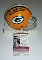 PACKERS Jim Grabowski signed mini helmet w/ Ice Bowl JSA COA AUTO Autographed
