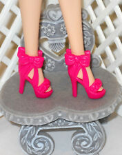SHOES Barbie Fashionistas Chic With A Wink Hot Pink Bow High Heels Strappy Cute