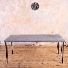 Folly Industrial Style Wooden Metal Dining Table Hairpin Legs Rustic Farmhouse