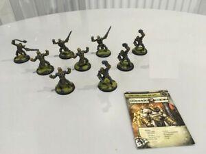 Cryx Metal Warmachine Drudge Mind Slaves Hordes Wargames RPG VG Painted