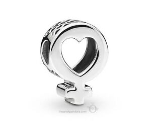 Genuine Pandora Charm Sterling Silver Female Symbol Heart Symbolism 797903