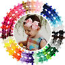 40pcs 4 Inch Grosgrain Ribbon Hair Bows Headbands for Baby Girl Infants Toddlers
