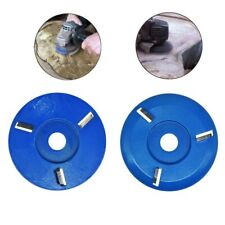 Wood Milling Cutter Wood Disc Round/Flat Teeth For 16mm Aperture Angle Grinder