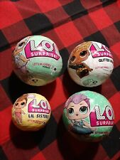 Lot of 4 Lol Surprise Lets Be Friends~Glitter Series, Miss Punk, Lil Sister New