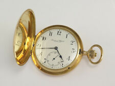 IWC SCHAFFHAUSEN 14K SOLID GOLD MANUAL WIND 31457 HUNTER POCKET WATCH
