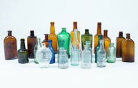 A Collection of Twenty-Four (24) various Antique Bottles