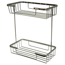 Two Tier Soap Shower Basket Bathroom Chrome Wire Work Accessories H403
