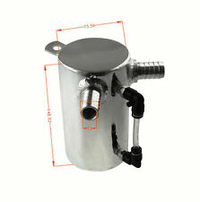 0.5L ALUMINIUM OIL CATCH CAN BREATHER TANK RESERVOIR POLISHED Hotsale