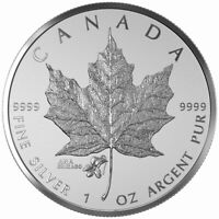2015 CANADA $5 CHICAGO ANA The Violet State Flower Silver Maple Leaf Privy Coin