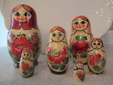 MATRYOSHKA ~ BABUSHKA NESTING DOLLS  ~ 6 PIECE SET