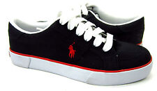 Polo Ralph Lauren Shoes Harold Canvas Black Sneakers Size 7.5 EUR 40.5