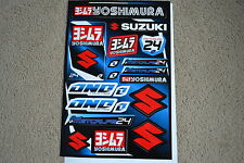ONE INDUSTRIES TEAM YOSHIMURA  SUZUKI UNIVERSAL GRAPHICS STICKERS 12X18 SHEET