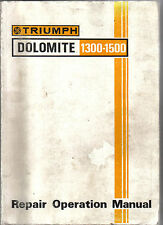 Triumph Dolomite 1300 & 1500 original Repair Operation Manual Workshop AKM 3626
